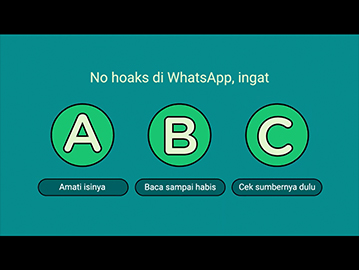 "WhatsApp ""ABC Smart Fingers Against Hoaxes"" Campaign"
